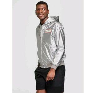 Hunter for target silver windbreaker jacket Large